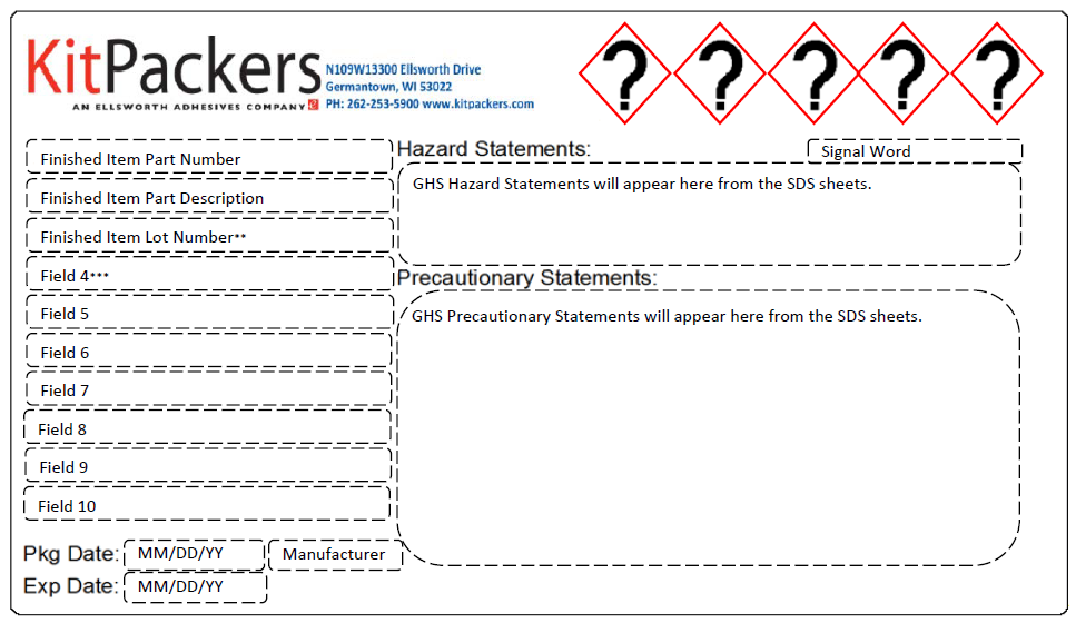 KitPackers Example Label
